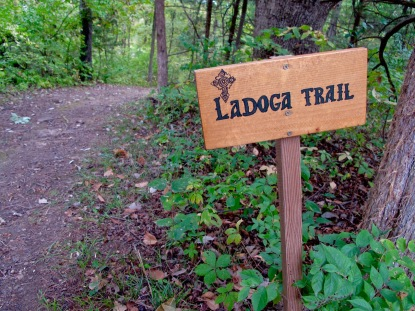 All trails are marked, and a map is available...