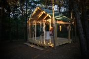 The new outdoor chapel, dedicated to St Sergius of Radonezh…