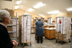 The Nuns' bakery, with a large order being prepared.