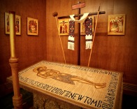 A large, and unique Burial Shroud of Christ.