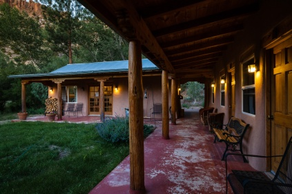 Guest house at twilight.