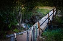 Foot bridge over the creek.