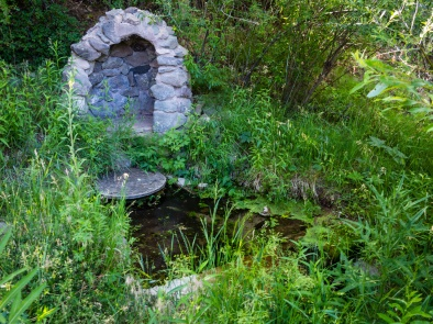 The spring near the guest house.