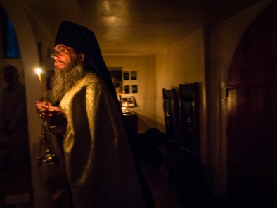 Censing at Compline. St Herman of Alaska Monastery, Platina CA