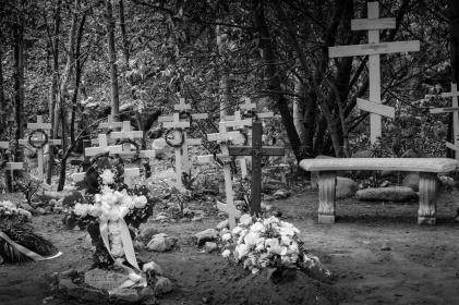 The monastery cemetery.